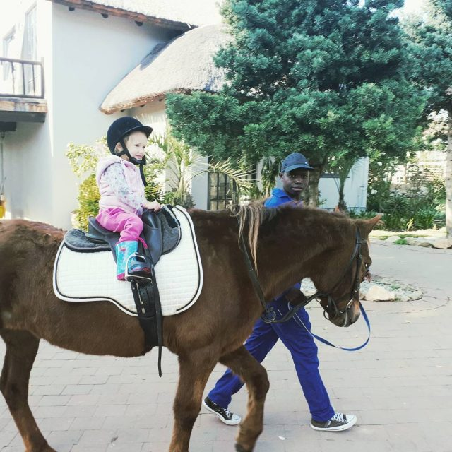 3yearold saltedlife Vera having fun horse riding